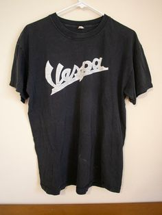 Vespa Scooter retro T-Shirt All day I dream about Scooters Colour Black