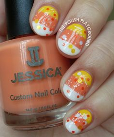 Candy Corn Stripes and Glitter