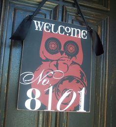 Great gift for a new neighbor or a friend that has moved or for family :) 16X20 in Personalized WELCOME House Number by RumpelstreetBoutique, $85.00