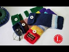 LOOM KNITTING Case for Pencils Glasses Hooks, Round Loom 24-pegs, Loomahat, My Crafts and DIY
