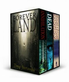 http://bookbarbarian.com/foreverland-boxed-by-tony-bertauski-2/ - The Complete Foreverland Saga.  THE ANNIHILATION OF FOREVERLAND When kids awake on an island, they're told there was an accident. Before they can go home, they will visit Foreverland, an alternate reality that will heal their minds.  FOREVERLAND IS DEAD Six teenage girls wake with no memories. One of them is in a brick mansion, her blonde hair as shiny as her shoes. The others are in a cabin, their name