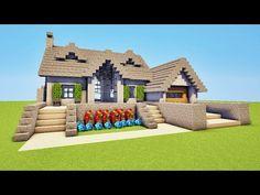 Minecraft Furniture Ideas To Get Ideas For 2019 Villa Minecraft, Plans Minecraft, Architecture Minecraft, Minecraft Building Blueprints, Modern Minecraft Houses, Minecraft Farm, Minecraft Mansion, Minecraft Interior Design, Minecraft Structures