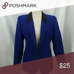 Blue Blazer This blue blazer is so cute ?? it is equipped with broad shoulder pads! Remember bundle 3 items or more and recieve 10% off your purchase ! Jackets & Coats Blazers
