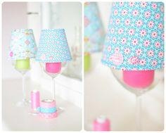 Lampenschirm basteln mit Schnittmuster Download - Lillesol und Pelle