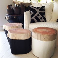 Incredibly sturdy and elegant, these beautiful log side tables are great as a table or stool. Available in black and white with natural top. As these are a natural product, heights and diameter may vary. 427, Darling Street, Balmain, 2041 Website: www.lumuinteriors.com Email: hello@lumuinteriors.com Phone: 0427 427 752