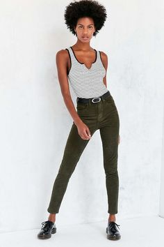 BDG Twig Corduroy High-Rise Skinny Pant - Urban Outfitters