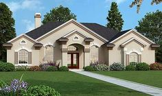 House exterior design european master suite 63 New ideas Plans Architecture, Architecture Design, Bedford House, Corner Tub, Contemporary House Plans, Arched Windows, Teen Girl Bedrooms, Dream House Plans, Walk In Pantry