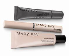Primers make your products wear longer. Eye primer, lip liner, foundation primer http://www.marykay.com/jtaylor91167