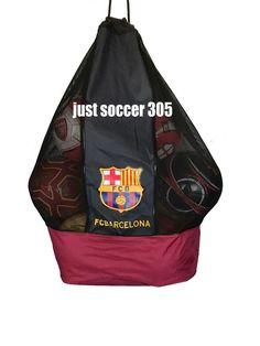 8cc047c59da FC Barcelona Nylon Mesh Drawstring Sports Equipment Ball Bag Large Sack # FCBARCELONA Messi 10,