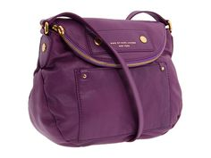 Marc by Marc Jacobs Preppy Leather Natasha in Bright Plum