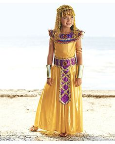 as cleopatra you will adorn yourself with a gold beaded headpiece and regal accessories a wishcraft girls costume by chasing fireflies - Egyptian Halloween Costumes For Kids
