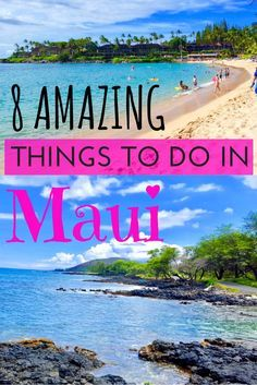 8 Amazing things to do in Maui to help you plan your next trip! /what to do in Maui/ maui travel guide / Maui Hawaii. Hawaii Vacation Tips, Hawaii Travel Guide, Trip To Maui, Maui Travel, Hawaii Honeymoon, Travel Usa, Vacation Ideas, Vacation Packing, Beach Trip