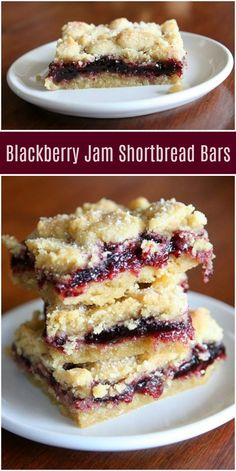 Blackberry Jam Shortbread Bars recipe from RecipeGirl.com #blackberry #blackberries #jam #shortbread #bar #bars #recipe #RecipeGirl