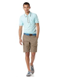 Need a fresh, comfortable outfit for this summer? We already have one for you. Check out this Original #Penguin Summer Look 2 in Aqua Wave.