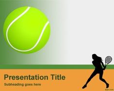 Tennis PowerPoint Template PPT Template