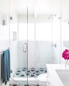 Showertime would have been a lot more fun if this was our childhood bathroom.  #repost  @mendetc    This bathroom is featured on @ruemagazine...twice in one week! #dontmindifido #menddesign @laurejoliet