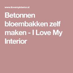 Betonnen bloembakken zelf maken - I Love My Interior