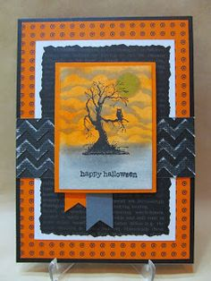 Spooky Sky Halloween Card by Savvy Handmade Cards. Best of Halloween stamp set and Witches' Brew dsp, Stampin' Up!, FMS108