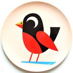 Assiette mélamine Oiseau chez Bianca and Family