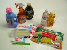Re ment Dollhouse Miniature Toothbrush Fabric Softener Cleanser Frozen Food Etc | eBay - $39.99