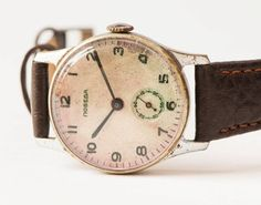 Antique mens wrist watch Pobeda retro watch Soviet by SovietEra, $49.00