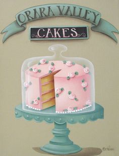 Orara Valley Cakes Painting #kitchendecoration #foodart