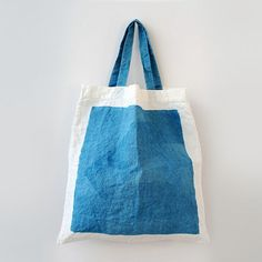linen bag, pop in suitcase: great for laundry, extra shopping My Bags, Purses And Bags, Textiles, Linen Bag, Fabric Bags, Shopper, Cotton Bag, Cloth Bags, Handmade Bags