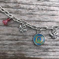 Personalized Bracelet, Honey Bee Bracelet, Bracelets for Women, Letter Bracelet, Honey Bee Jewelry, Personalized Jewelry, Letter Jewelry by SecretGardenByLaura on Etsy