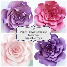 Paper flower template giveaway by PaperFlora