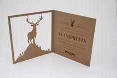 Classic Wedding Invitations | Reindeer- Bifold | Same sex marriage invites