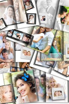 Прекрасные мгновения - фотокнига, набор шаблонов для Фотошопа