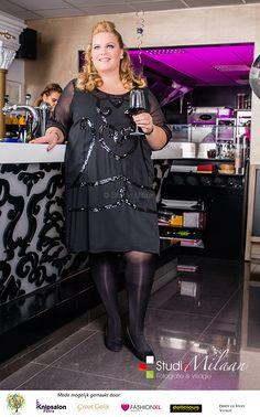 Feestshoot 2014: Studio Milaan, Lovefashionxl en groot Gelijk. Jurkje Yoek Black Label.