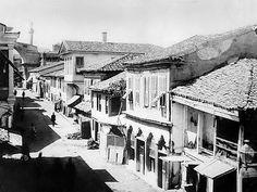 Η Εγνατία στην περιοχή της Καμάρας, στα τέλη του 19ου αιώνα Thessaloniki, Urban Photography, Macedonia, Crete, Athens, Old Photos, The Past, Places To Visit, History