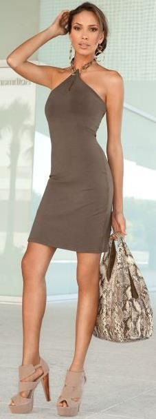 Casual dress, love the shape and color