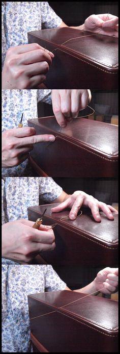 胴版とマチ縫い合わせ