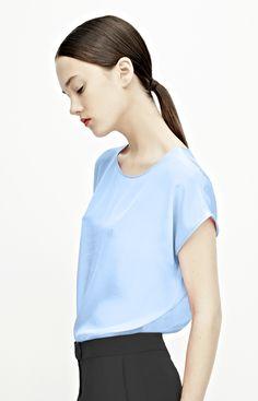 claire, loose silk tshirt