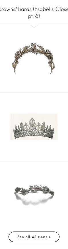 """Crowns/Tiaras (Esabel's Closet pt. 6)"" by kimberlylindsey ❤ liked on Polyvore featuring accessories, hair accessories, jewelry, crown, tiara, crowns and tiaras, crown tiara, tiara crown, filler and tiaras"