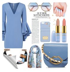 """""""Sin título #61"""" by katicamc ❤ liked on Polyvore featuring Milly, ESCADA, Lulu Guinness, Lanvin, Sunday Somewhere and MICHAEL Michael Kors"""