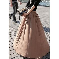 Ladylike Style High Elasticity Solid Color Bow Tie Women's Skirt, CAMEL, ONE SIZE in Skirts   DressLily.com