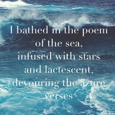 I bathed I the poem of the sea -Arthur Rimbaud