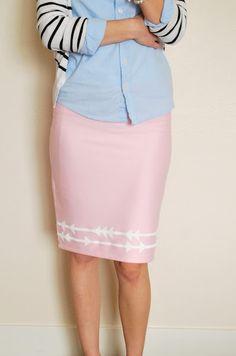 jersey pencil skirt from merrick's art.
