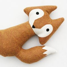 Red Orange Woodland Fox Stuffed Animal Toy by TidwellHollowFriends, $28.00