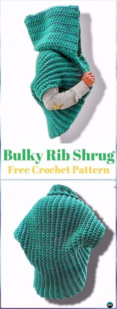 Crochet Ribbed Shrug Free Pattern Video - Crochet Women Shrug Cardigan Free Pattern