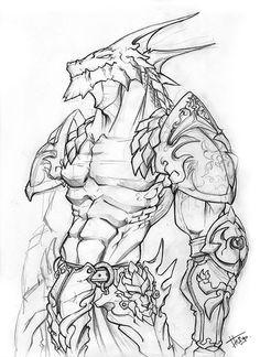 dragonborn monk, fighter