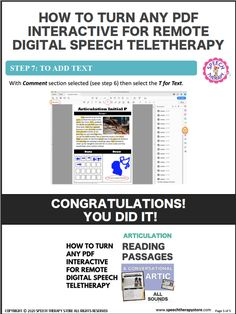 How to Turn Any PDF Interactive for Remote Digital Speech Teletherapy - Speech Therapy Store Aveeno Daily Moisturizing Lotion, Life Skills Lessons, Active Listening, Thought Bubbles, Reading Passages, Student Reading, Feeling Overwhelmed, Text You, Social Skills