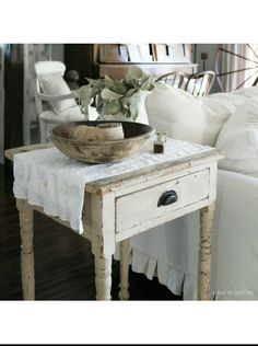 Antique table  Farmhouse  Cottage at home on SweetCreek