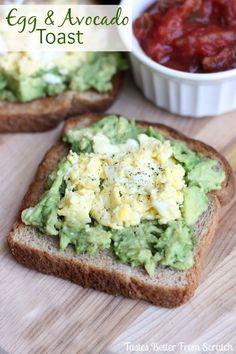 Egg and Avocado Toast recipe from TastesBetterFromScratch.com