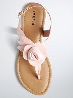 Business Ideas Discover Flower T-Strap Sandals (Wide Width) Bridesmaid Sandals, Bridal Sandals, Bridal Shoes, Wedding Shoes, Wedding Cake, Shoes Flats Sandals, Cute Sandals, T Strap Sandals, Leather Sandals