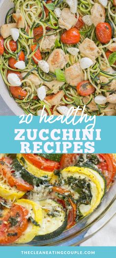 These are the best Healthy Zucchini Recipes from soup to baked zucchini recipes, dessert, sides, bread and muffins -there is something for everyone! This post has low carb, whole30, paleo and gluten free recipes. There is something for you regardless of your diet! Easy Clean Eating Recipes, Easy Whole 30 Recipes, Healthy Bread Recipes, Healthy Vegetable Recipes, Vegetarian Snacks, Healthy Zucchini, Healthy Vegetables, Healthy Breakfast Recipes, Free Recipes