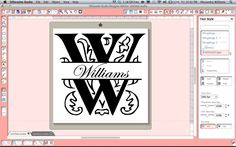 How to create a split letter monogram in Silhouette Studio.